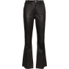 HELMUT LANG Flared Leather Trousers - Capri & Cropped -