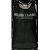 HELMUT LANG fishnet logo vest - Chalecos -