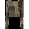 HELMUT LANG ndark green patchwork - Pullovers -
