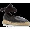 HEREU black leather espadrille sandal - scarpe di baletto -