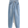 HIGH WAIST LOOSE FIT DENIM JEANS - Jeans - $36.97