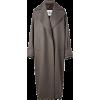 HISO greige grey coat - 外套 -