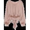 H&M Tie-hem Blouse - Long sleeves shirts -