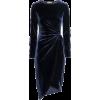 H&M blue velvet dress - ワンピース・ドレス -