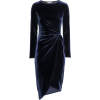 H&M blue velvet dress - sukienki -
