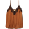 H&M camisole in brown with lace - Camisas sin mangas -