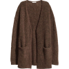 H&M knit cardigan in brown - 开衫 -