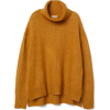 H&M mustard yellow knit jumper - Swetry -
