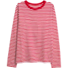 H&M red and white striped blouse - Long sleeves shirts -