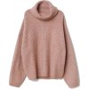 H&M turtleneck sweater in dusty pink - Puloveri -