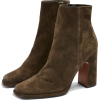 HOLDEN Leather Khaki Platform Boots - Škornji - £35.00  ~ 39.55€