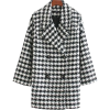 HOUNDSTOOTH DOUBLE-BREASTED COAT - Jakne i kaputi - $44.97  ~ 285,68kn