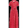 HVN  Long Maria shell-print silk midi dr - Dresses -