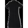Half Turtleneck Short Sleeve Striped Dre - Dresses - $25.99