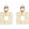 Halogen Square Drop Earrings - Ohrringe -