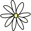 Handdrawn Daisy - Plants -