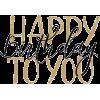 Happy Birthday - Texts -