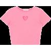 Heart Cut Out Crop Top - T-shirts -