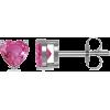 Heart Pink Sapphire Studs - Ohrringe - $569.00  ~ 488.71€