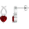 Heart Ruby Earrings - Earrings - $1,689.00