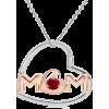 AAA Heart Shape Mom Pendant  - Necklaces - $131.00