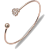 Heart Bracelet Semi-open Curved Adjustable Bracelet - Bracelets -