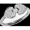 Heart Diamond Ring, Unique Engagement Ri - Rings -