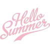 Hello Summer text phrase - Teksty -