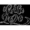 Hello 2020 - 插图用文字 -