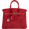 Hermes birkin bag in suede red - Bolsas pequenas -