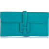 Hermes clutch turquoise - バッグ クラッチバッグ -