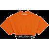 Heron Preston orange cropped tee - Sneakers -