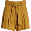 High Waist Linen Blend Shorts BP. - Shorts -