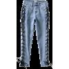 High waist cross drawstring denim pants - Jeans - $23.99
