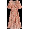 High waist was thin beach holiday print  - Dresses - $29.99