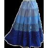 Hippy Blue Skirt - Skirts -