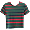 Hit color striped short-sleeved T-shirt - Magliette - $15.99  ~ 13.73€