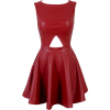 Holly Cut Out Leatherette - Dresses - $140.00