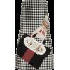 Holly Fulton Appliquéd houndstooth dress - Obleke -