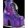 Holographic Platform Shoes - Platforms - $85.95