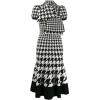 Houndstooth Dress with Scarf - Anderes -