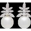 Hueb Gala 18K White Gold Pearl And Diamo - Earrings - $3.83