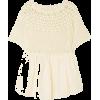 INNIKA CHOOPaue Würful crocheted linen t - Shirts -