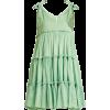 INNIKA CHOO  Tiered ruffle-trimmed ramie - Dresses -