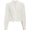 INTERMIX Amy Tie Front Top - Long sleeves shirts -
