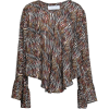 IRO Tildana zebra-print silk blouse - Camisas manga larga -