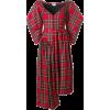 ISA ARFEN asymmetric tartan dress 966 € - Dresses -