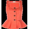 ISA ARFEN button peplum top - Shirts -