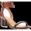 ISABEL MARANT brown leather sandal - Sandals -