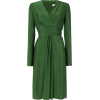 ISSA Kate Tie Wrap Dress in Green - Dresses -